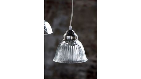 IB LAURSEN Závěsná lampa 16 cm, šedá barva, bílá barva, sklo