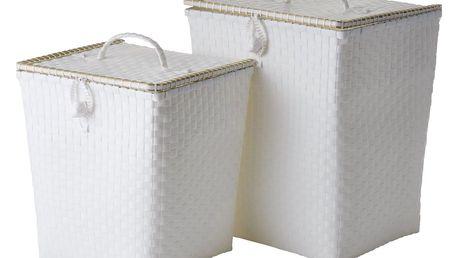 rice Plastový koš na prádlo White Větší, bílá barva, plast