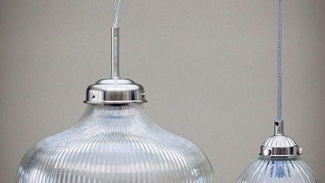 Garden Trading Závěsná lampa Paris Nickel, stříbrná barva, čirá barva, sklo, kov