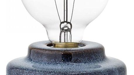 Bloomingville Porcelánová stolní lampa Blue, modrá barva, porcelán (slevový kód JEZISEK24 na -24 %)