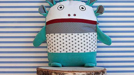 Tyrkysovo-šedý pyžamožrout Bartex Design, 35x30cm
