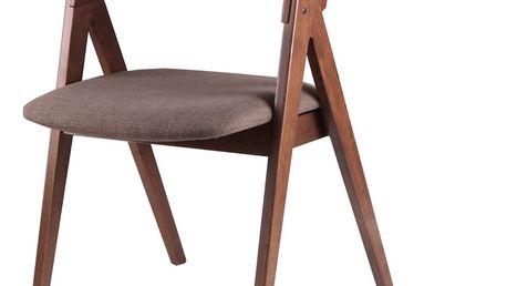 Sada 2 hnědých jídelních židlí sømcasa Rina - doprava zdarma!