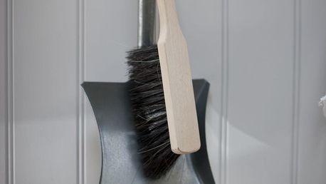 Garden Trading Lopatka se smetáčkem, béžová barva, stříbrná barva, dřevo, zinek (slevový kód JEZISEK24 na -24 %)