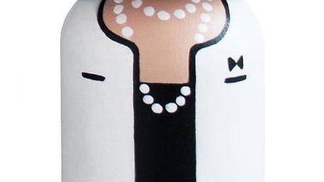Lucie Kaas Dřevěná kokeshi panenka COCO 14,5 cm, černá barva, dřevo
