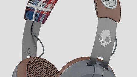 Sluchátka Skullcandy GRIND ON-EAR W/TAP TECH AMERICANA/PLAID/GRAY Barevná