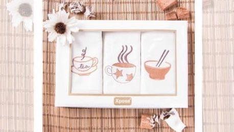 XPOSE ® Kuchyňské utěrky TEA - dárkové balení 3ks 45x70 cm