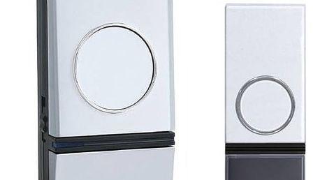 Zvonek bezdrátový Solight 1L28, do zásuvky, 200m (1L28) stříbrný/bílý + Doprava zdarma
