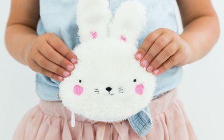 A Little Lovely Company Dětská peněženka Fluffy Bunny, bílá barva, textil