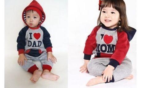 Teplákovka pro děti I love Dad/Mom / VÝPRODEJ!