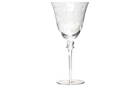 GREEN GATE Sklenička na víno Heart cutting - větší, čirá barva, sklo