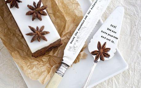 La de da! Living Postříbřená lopatka na dort YES! You Can, stříbrná barva
