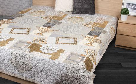 Přehoz na postel Lace béžová, 160 x 220 cm