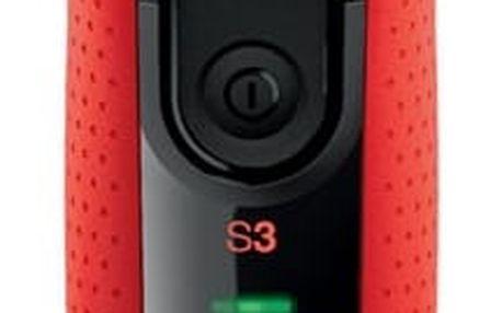 Holicí strojek Braun Series 3-3030s černý/červený + DOPRAVA ZDARMA