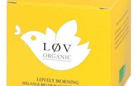 Løv Organic Zelený čaj Løvely Morning - 20 sáčků, žlutá barva, papír