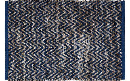 GREEN GATE Koberec Nora blue 60x90, modrá barva, textil