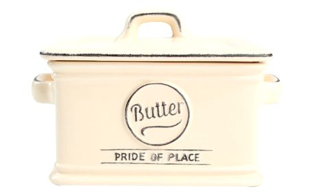 Krémová keramická máslenka T&G Woodware Pride Of Place