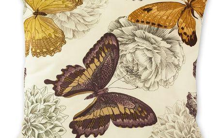 Jahu Povlak na polštářek Klasic motýl fialová, 45 x 45 cm