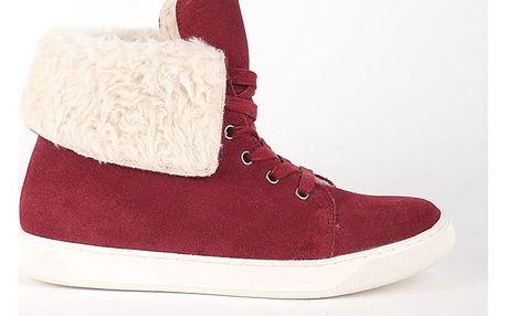 Boty Primadonna Calzatura Sneakers Camoscio Bord Červená