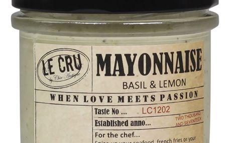 LE CRU Delicacies Citronová majonéza s bazalkou 110gr, přírodní barva, sklo