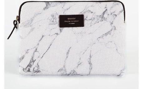 Woouf! Obal na iPad White Marble, šedá barva, bílá barva, textil