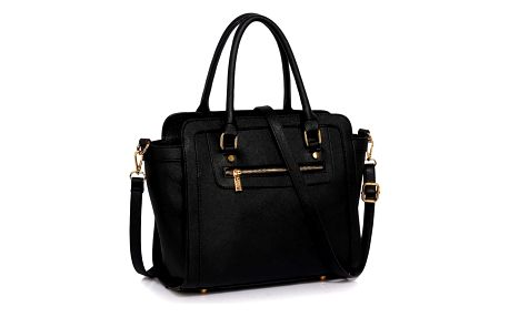 Černá kabelka z eko kůže L&S Bags Trianon