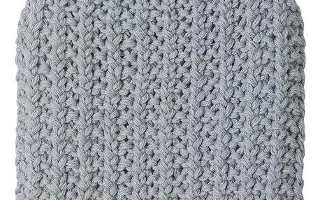 Bloomingville Termofor s pleteným povlakem Grey, šedá barva, textil
