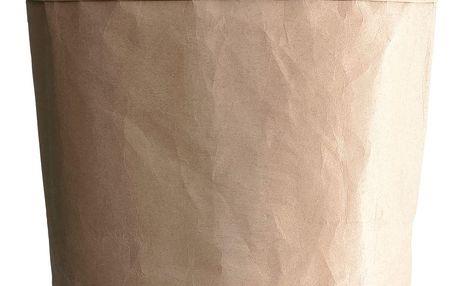 House Doctor Papírový box CRAFT kulatý 36 cm, hnědá barva, papír