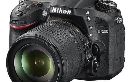 Digitální fotoaparát Nikon D7200 + 18-105 AF-S DX VR černý + DOPRAVA ZDARMA