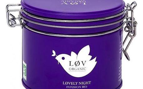 Løv Organic Rooibos čaj Løvely Night - 100 g, fialová barva, kov