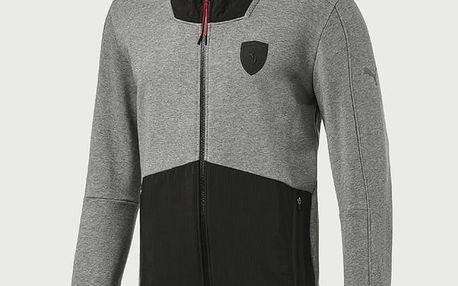 Mikina Puma Ferrari Hooded Sweat Jacket Šedá