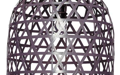 Hübsch Bambusová lampa Oblong Grey, šedá barva, proutí