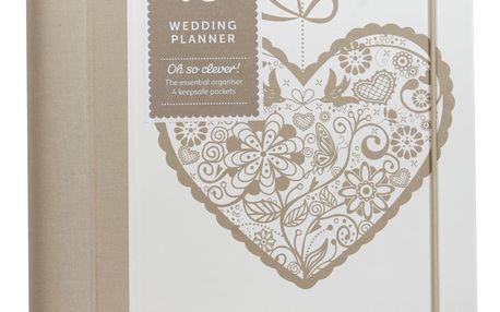 Busy B Svatební plánovač Bride to B Heart, béžová barva, bílá barva, krémová barva, papír