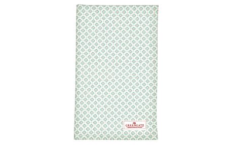 GREEN GATE Utěrka Jill mint, zelená barva, textil