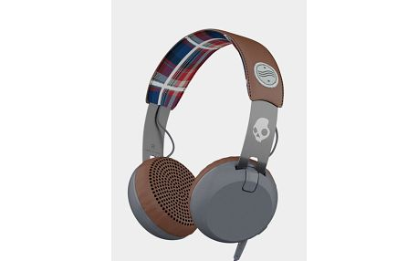 Sluchátka Skullcandy GRIND ON-EAR W/TAP TECH AMERICANA/PLAID/GRAY Barevná