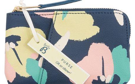 Busy B Mini peněženka Busy B Fashion, modrá barva, kůže