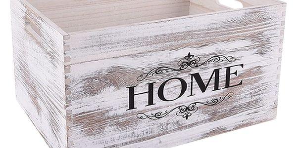 Orion Dřevěná bedýnka Home, 40 x 30 cm