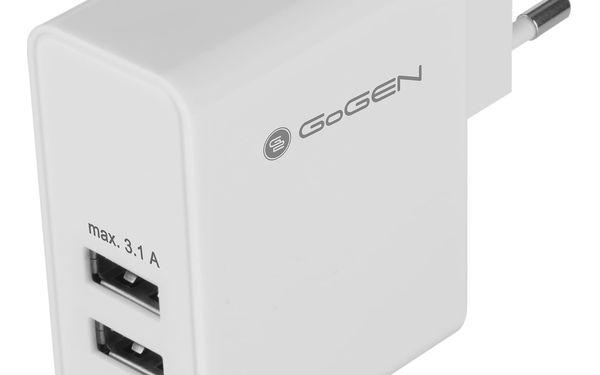 Nabíječka do sítě GoGEN ACH 300, 3x USB, 3,1A (GOGACH300) bílá2