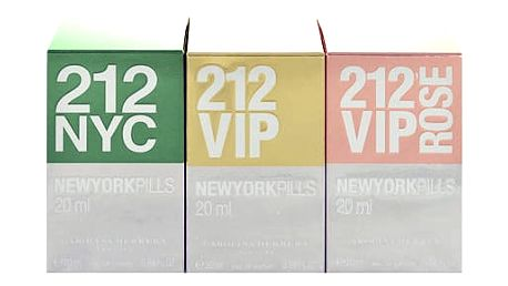 Carolina Herrera Mini Set 1 EDT dárková sada W - edt 212 20 ml + edp 212 VIP 20 ml + edp 212 VIP Rose 20 ml
