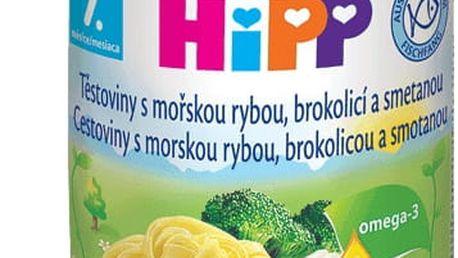 6x HIPP tagliatelle s mořskou rybou, brokolicí a smetanou (220 g) - maso-zeleninový příkrm