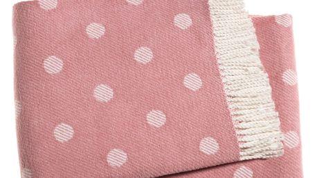Růžová deka Euromant Sevilla, 140x180cm - doprava zdarma!