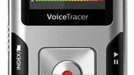 Diktafon Philips DVT4010 (855971006205) stříbrný Sluchátka Philips SHE3590WT bílá v hodnotě 297 Kč