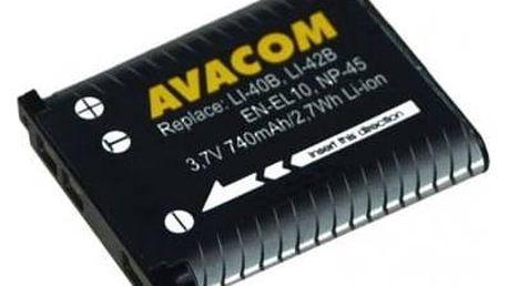 Baterie Avacom pro Olympus Li-40B/Li-42B, Fujifilm NP-45, Nikon EN-EL10 Li-ion 3.7V 740mAh (DIOL-LI40-AVA)