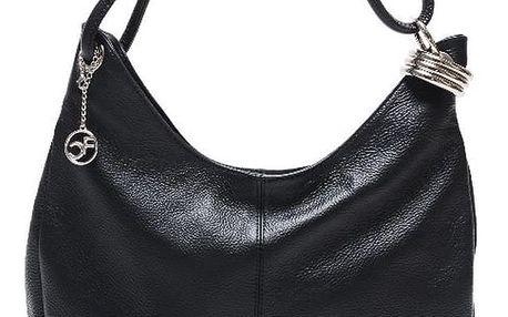Černá kožená kabelka Isabella Rhea no. 1022 - doprava zdarma!