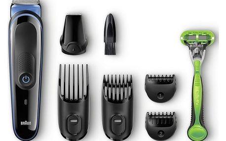 Zastřihovač vousů Braun MGK 3040 černý/modrý