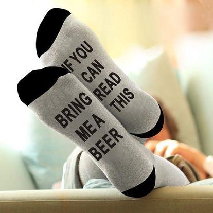 Ponožky se vzkazem