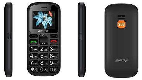 Mobilní telefon Aligator A321 Senior Dual SIM (A321GB) černý/šedý