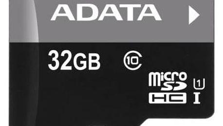 Paměťová karta ADATA 32GB Class 10 UHS-U1 (50R/10W) + čtečka MicroReader Ver.3 (AUSDH32GUICL10-RM3BKBL) černá