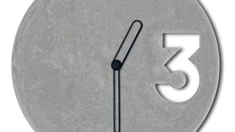 Betonové hodiny s ohraničenými černými ručičkami od Jakuba Velínského - doprava zdarma!
