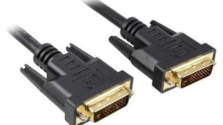 Kabel PremiumCord DVI, 2m (kpdvi2-2) černý