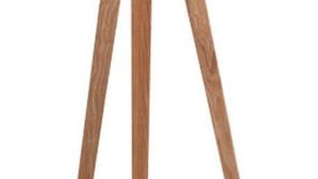 Bílá stojací lampa Zuiver Tripod Wood - doprava zdarma!